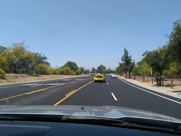 route de campagne Los Angeles