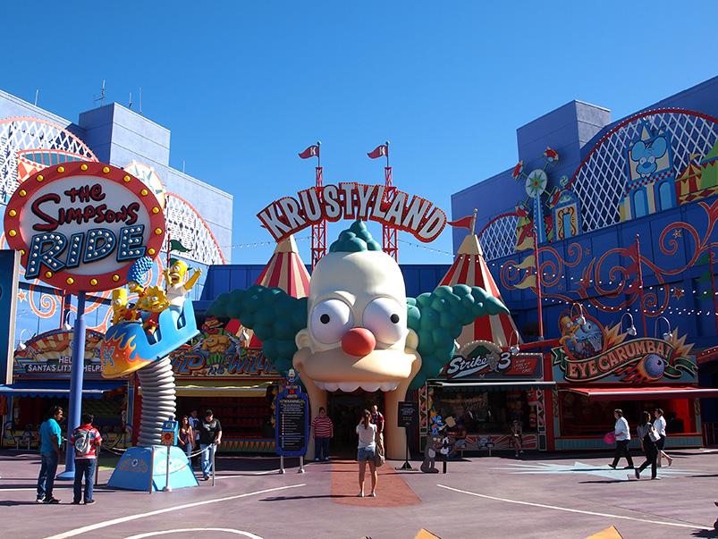 entrée de l'attraction the simpson ride universal studios hollywood