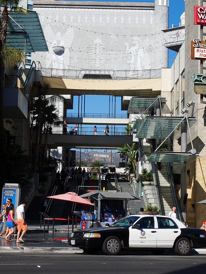 vue hollywood sign depuis highland center