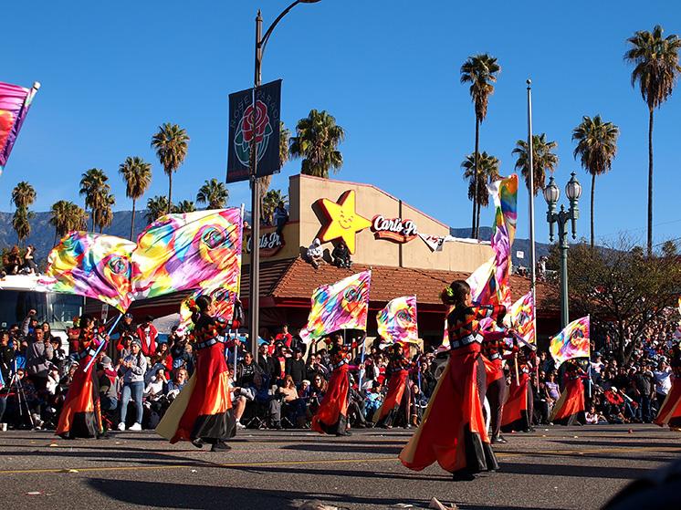 Rose Parade 2020 drapeaux