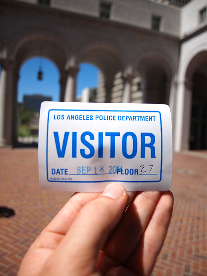 sticker visiteur Los Angeles City Hall