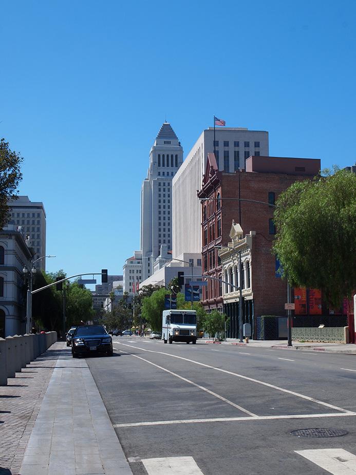 Main Street à El Pueblo Los Angeles là où Dan devait se faire enlever dans la série Lucifer