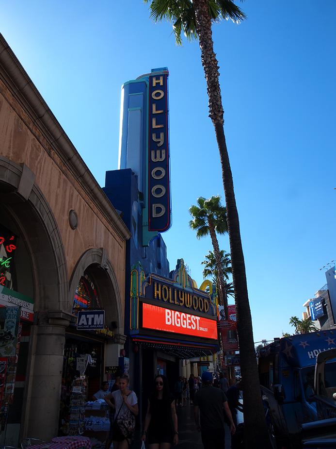 hollywood boulevard et enseigne hollywood