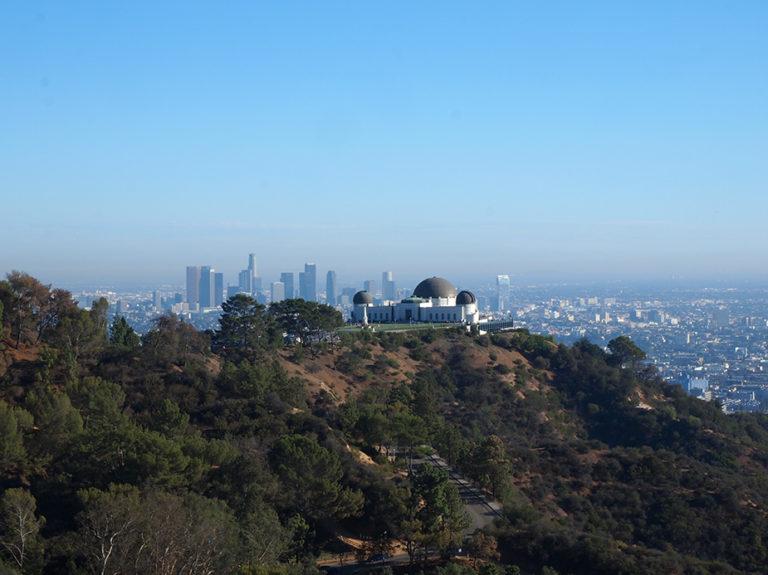 Griffith Observatory et arrière plan Downtown Los Angeles
