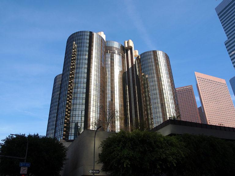 extérieur de l'hôtel Westin Bonaventure à downtown Los Angeles
