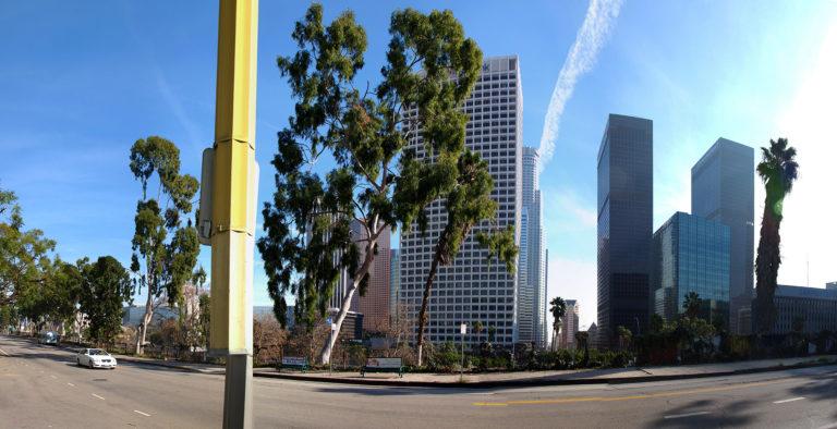vue de downtown Los Angeles depuis Los Angeles Studios